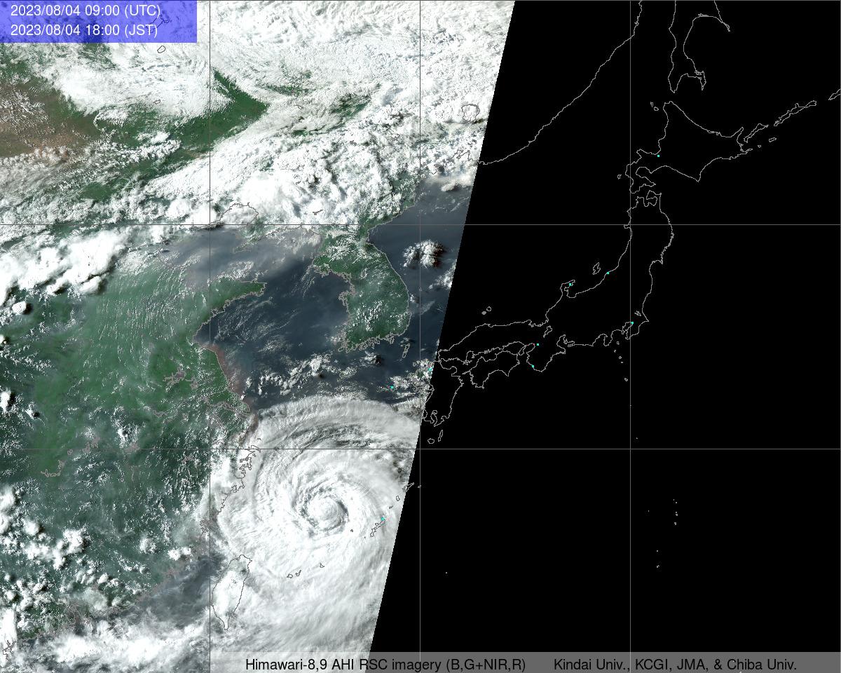 衛星畫像 東アジア域畫像