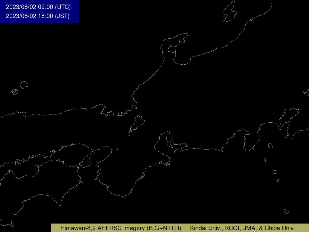 衛星畫像 本州中部の拡大畫像