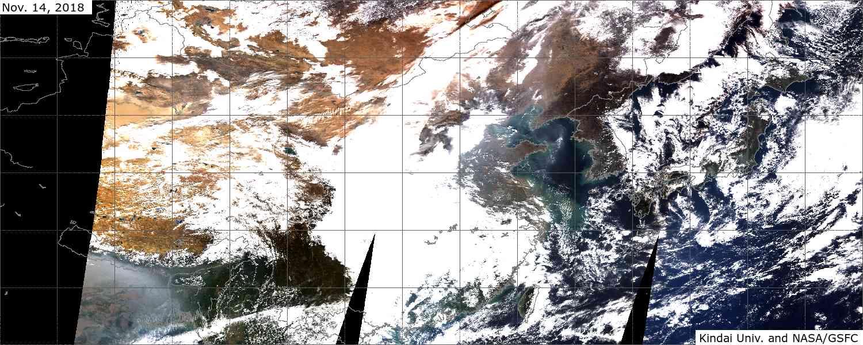 衛星画像で見る大気状況 午前撮影