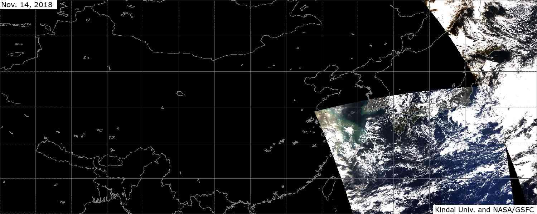 衛星画像で見る大気状況 午後撮影